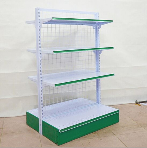 4 Layers Foldable Supermarket Display Shelving / Steel Storage Rack For Store