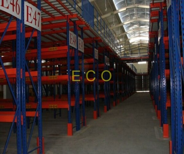 Heavy Duty Warehouse Storage Racks , Uprights Mezzanine Adjustable Steel Storage Racks