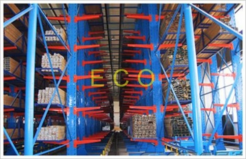Double Sided I Type Cantilever Rack For Warehouse Racking Systems
