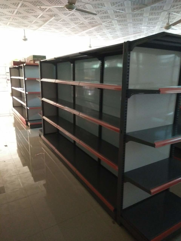 Convenient Store Supermarket Gondola Metallic Racks Display Shelving Shelves