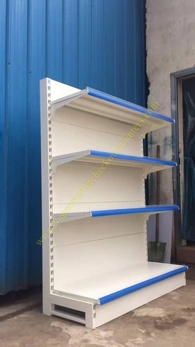 Wall Shelf And Island Gondola Supermarket Display Shelving / Rack Heavy Duty