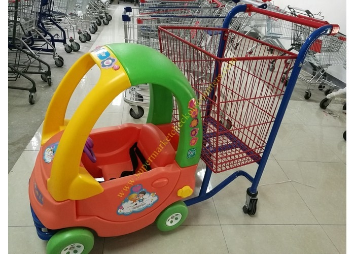 Supermarket Toy Car Fun Metal Kids Shopping Carts Trolley With Wheels