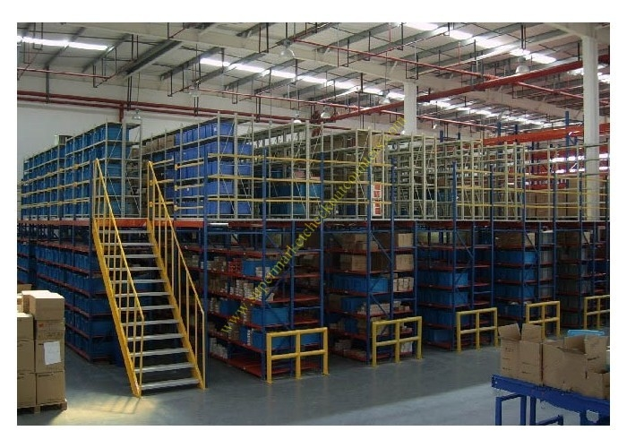 Multi - level Warehouse Storage Mezzanine Rack / Metal Steel Platform