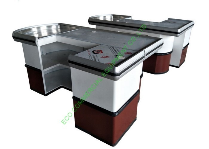 Custom Build Cash Register Checkout Counter / Supermarket Cash Wrap Counter Table