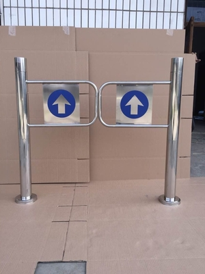 China Indoor 970Mm Swing Gate Barrier Mechanical For Shopping Mall Center distributor