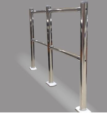 China Manual Supermarket  Stainless Steel Accessories Pedestrian Barrier Rail distributor