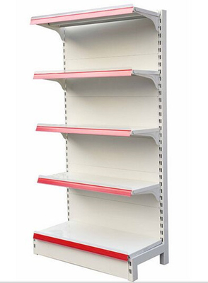 Commercial Retail Shelving Supermarket Racks Steel Plain Back Panel