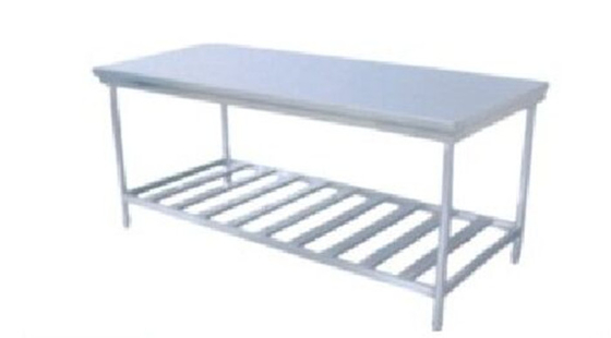 China Supermarket Equipment Stainless Steel Display Racks Commercial Work Bench distributor