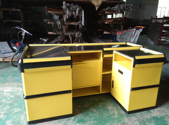 China Corrosion Protection Steel Supermarket Checkout Counter for Shopping Malls distributor