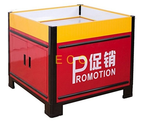 China Movable Metal Promotion Display Counter Store Supermarket Accessories L1000 * W1000 * H850 mm distributor