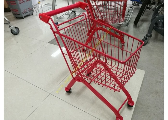 China Kids Model Supermarket Shopping Cart / Red Color Shopping Trolley For Kids distributor