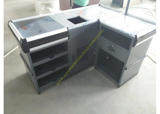 China Useful Design Convience Store Metal Cash Counter Used In Shopping distributor