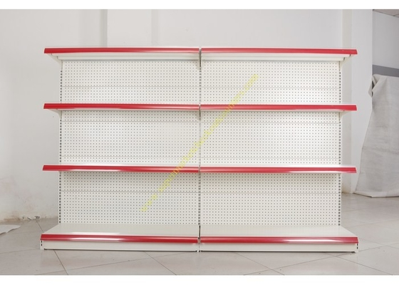 China Single - side Store / Supermarket Display Shelving with 4 Layers Perforated Back Panel distributor