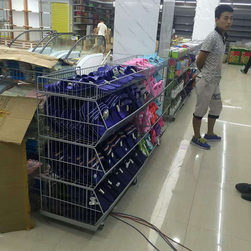 Removable Iron Assembled Storage Wire Basket For Supermarket And Store