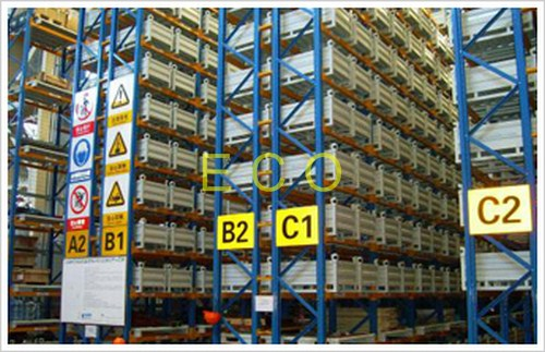 Narrow Aisle Pallet Style Steel Warehouse Storage Racks / Adjustable Selective Rack