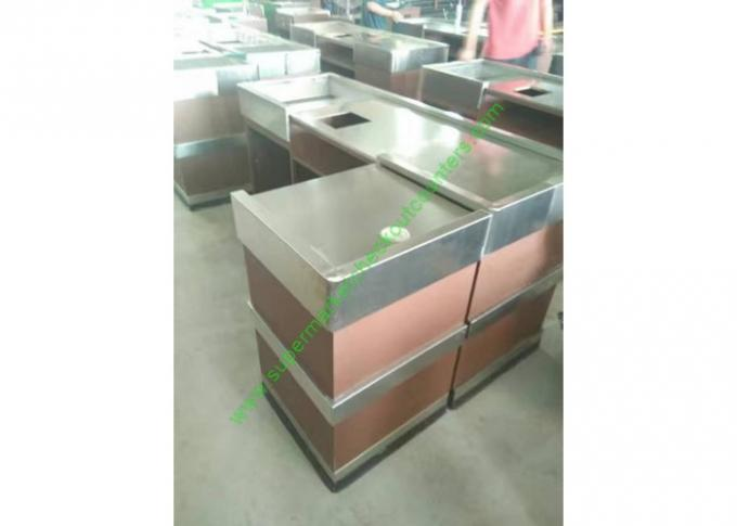 Stainless Steel Cash Register Counter Stand / Till Counters For Shops Or Retail Stores