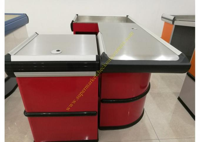 Fashion Metal Cash Counter Reception Desk Furniture Mirror Polished